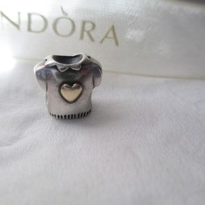 Pandora T-Shirt with 14k Gold Heart Charm